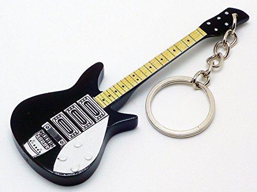 [해외][Musical Story] 미니 기타 열쇠 고리 BEATLES 존 레논 325 바람/[Musical Story] miniature guitar key ring BEATLES John Lennon 325 wind