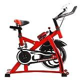エスティージェ スピンバイクプラス  STJ spinbike plus 防振 超静音 耐荷重250kg  フィットネスバイク ダイエット 健康 ウォーカー  (レッド)