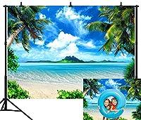 dephoto 7x 5ft (210x 150cm) ブルースカイ海ビーチシームレスなビニール写真背景写真背景Studio Prop ht001