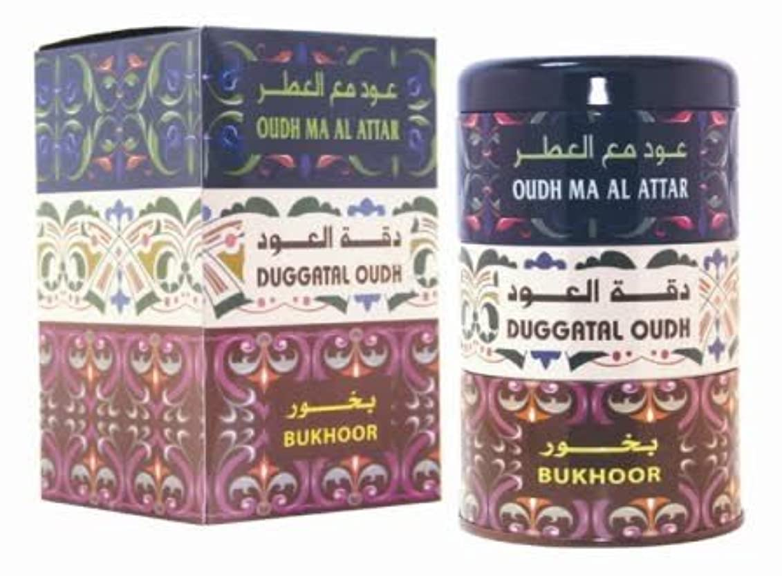 電信承認無意味Complete Fragances forホーム[ Oudh Ma Al Attar、Daggatal Oudh、Bukhoor ] ( 120g ) Agarwood Incense by Al Haramain