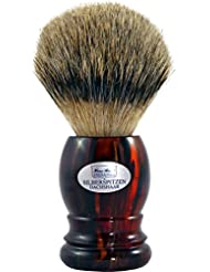 Shaving brush silvertip badger, Havanna handle - Hans Baier Exclusive