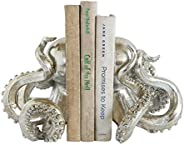 Creative Co-Op DA7837 Waterside Silver Resin Octopus Bookends