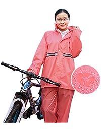 雨具 防水 女性用 通学 便利 大人 ハイキング レインコート 女性 分割 乗る 厚い セット (サイズ : XL)