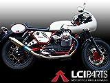 モトグッチ V7 Racer LCIラウンドチタンスリップオンマフラーマフラー