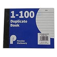 半分サイズ複製Receipt Book Numbered Cash 1–100ページパッドカーボン請求書