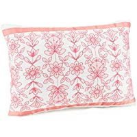 Jessica Simpson A026115MUIPE Ellie Ribbon Trim Dec Pillow, 30cm x 41cm , Red Ellie Ribbon Trim Dec Pillow