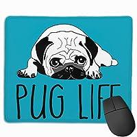 ハバの犬 生活 PUG LIFE マウスパッド 家庭 自由な操作できる ゲーム向け 肘疲労軽減 デスクパッド パソコン作業 マウス敷 おしゃれ
