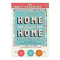 ペグとペンを備えた2020年のファミリーオーガナイザーカレンダー-Home Sweet Home 0268