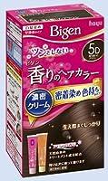 ビゲン 香りのヘアカラー クリーム 5D 落ち着いたブラウン × 5個セット
