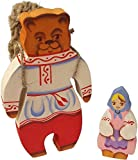 2 pc Set Masha And Bear - Wooden Fairytale Character Toys - Twiggen Basket - クリスマス 熊