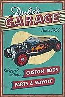 Duke 's Garage–Vintage Sign 9 x 12 Art Print LANT-56507-9x12
