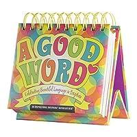 DaySpring A Good Word, DayBrightener Perpetual Flip Calendar, 366 Days of Inspiration (48502) by Dayspring
