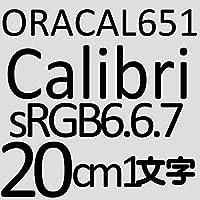20センチ Calibri つや消しブラック sRGB 6,6,7 oracal651 ファイングレード 切文字シール カッティングシール カッティングステッカー