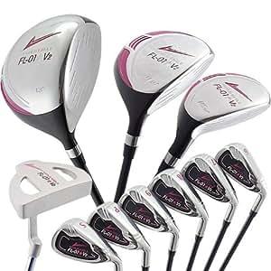 WORLD GOLF(ワールドゴルフ) ワールドイーグル 【バッグなし】WE-J-FL-01V2 レディースクラブセット【ピンク】BLACK BERRY  WE-J-FL-01V2