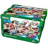 BRIO (ブリオ) WORLD レール&ロードデラックスセット [ 木製レール おもちゃ ] 33052