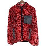 (シュプリーム)SUPREME 【17AW】【Leopard Fleece Reversible Jacket】レオパードリバーシブルジャケットブルゾン(M/レッド) 中古