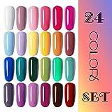Vishine Gel Nail Polish 24 Colors Set Soak Off Gel Nail Polish Kit Nail Art Manicure Pedicure New Starter Pretty Color Collection Gift Set 8ml