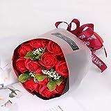 Arbeflo プレゼント 花束 フラワーギフト 手作り花束 石鹸花 プレゼント バレンタインデー 母の日 誕生日 結婚祝い 結婚記念日 (レッド)