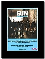 - GUN - Taking on the World 25th Anniversary Edition - つや消しマウントマガジンプロモーションアートワーク、ブラックマウント Matted Mounted Magazine Promotional Artwork on a Black Mount