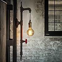 水パイプ壁取り付け用燭台、Sun実行メタルヴィンテージ工業壁ライト器具withレトロスタイルのバー、キッチン、リビングルーム、ベッドルーム、e26ソケットランプ
