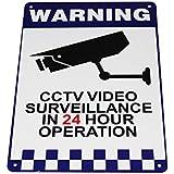 Warning Security Sign Camera CCTV Under 24H Surveillance Office Home Traffic Sign 200x300mm Metal Waterproof 16003002 WEIDA