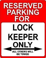 """ロックKeeper Occupation予約駐車場のみOthers Towed飾りSign 9"""" x12""""プラスチック。"""