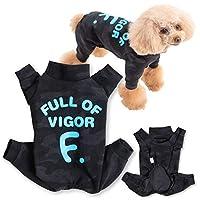犬猫の服 full of vigor_ドッグプレイ(R)迷彩ハイテンションつなぎ_7/ブラック・ブルー_NL_小型犬・ダックス用