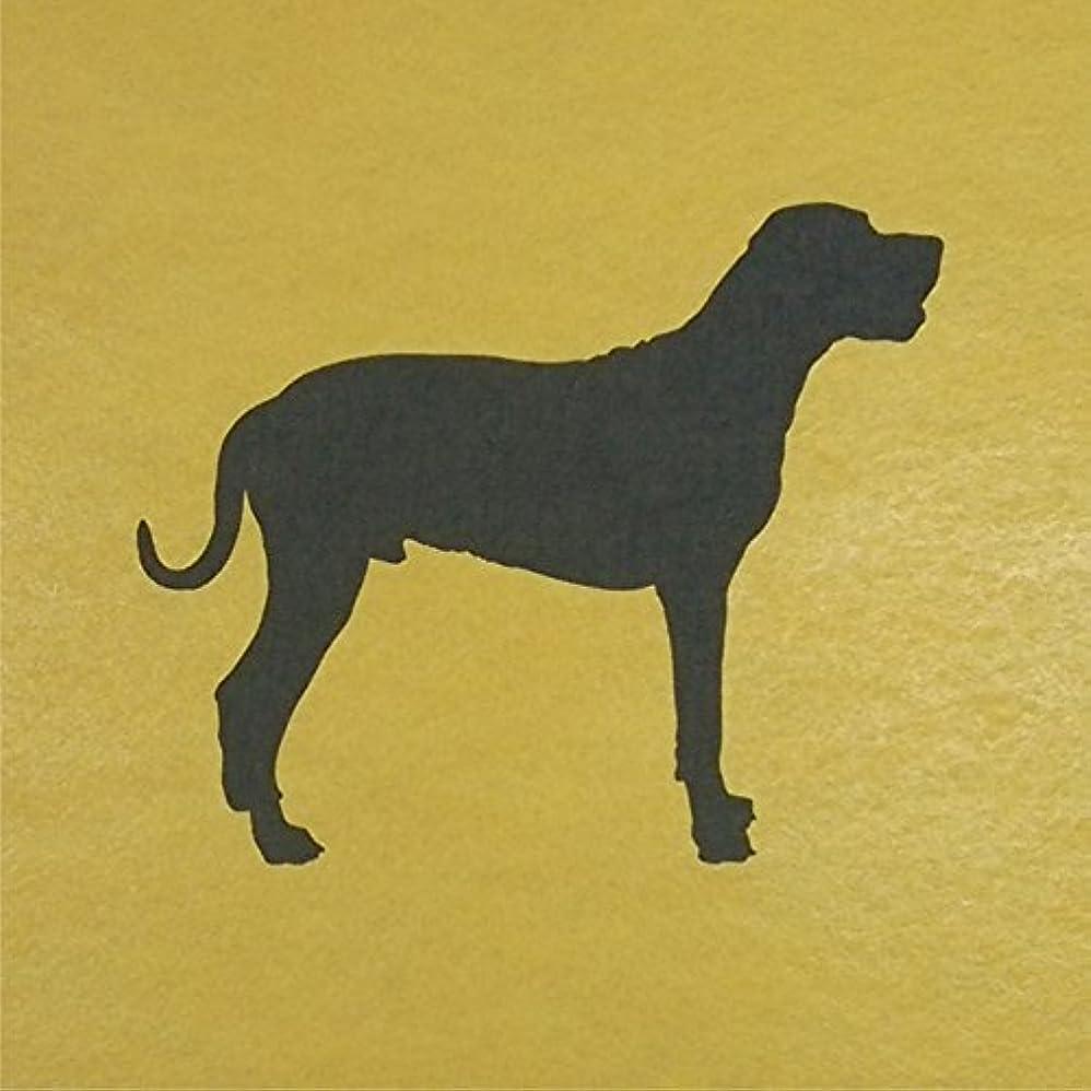 トーストアスレチックペイントステンシルシート 犬ー13 イヌ 3サイズ型紙  (20cm)