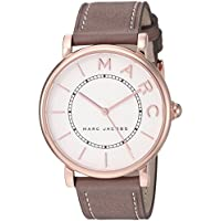Marc Jacobs Women's 'Roxy' Quartz Stainless Steel and Leather Casual Watch, Color:Brown (Model: MJ1533)
