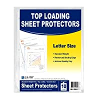 C-Line Top Loading Standard Weight Poly Sheet Protectors, Clear, 8.5 x 11 Inch Sheets, 10-Pack (05017) [並行輸入品]