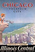 Illinoi Central–シカゴ–Vacation Cityビンテージポスター(アーティスト: Proehl ) USA C。1932 9 x 12 Art Print LANT-59660-9x12