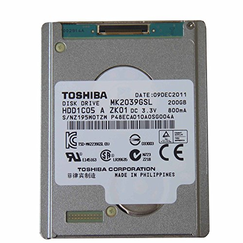 MacBook Air 第2世代 SATA LIF TOSHIBA 1.8 SATA LIF HDD 200GB MK2039GSL Macbook air Rev.b Rev.c A1304 第二世代用,SONY HDR-XR160E 260E 用