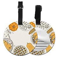 ネームタグ イースタ かぼちゃ 焼き鳥 スーツケース バッグ ベルト 荷物タグ 丸形 円形 紛失防止 出張 ラゲージタグ 名札 部活バッグ BOLACO 2枚入 1枚入