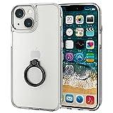エレコム iPhone 5.4inch ハイブリッドケース リング付き ブラック PM-A21AHVCKRBK