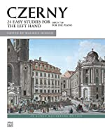 Czerny, 24 Studies for the Left Hand, Op. 718: An Alfred Masterwork Edition (Alfred Masterwork Editions)