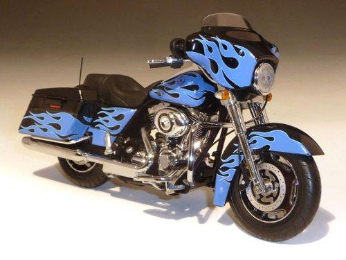 ダイキャスト バイク 2011 ハーレーダビッドソン FLHX Street Glide ブルー 1/12