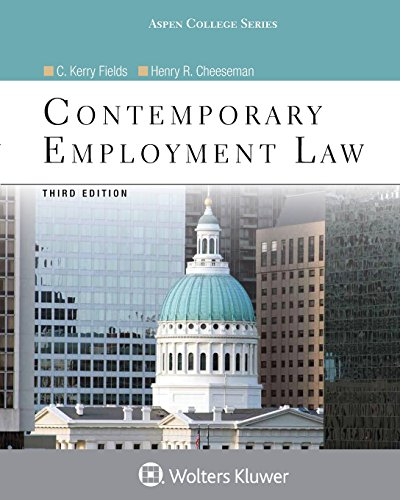 Download Contemporary Employment Law (Aspen College) 1454873434