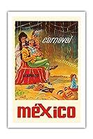 アカプルコ、メキシコ - カーニバル - ビンテージなカーニバルのポスター によって作成された J.・ソリス・M c.1966 - プレミアム290gsmジークレーアートプリント - 61cm x 91cm