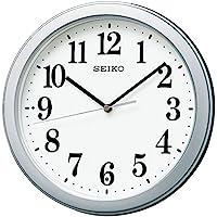 セイコークロック 掛け時計 02:銀色メタリック 本体サイズ:直径28×4.8cm 【ギフト包装】電波 アナログ コンパクトサイズ 値札なし BC404S