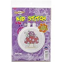 """Kid Stitch Snail & Mushroom Mini Counted Cross Stitch Kit-3"""" Round 11 Count (並行輸入品)"""