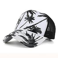 Yeefant 2018 新発売 超人気!カラフル 花 夏の通気性 メッシュキャップ ベースボールキャップ UVカット メンズ レディースコットンキャップ おしゃれ 野球帽 キャップ 5 (ブラック)