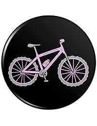 ピンクペダルマウンテンバイク自転車ピンバックボタンピンバッジ - 1
