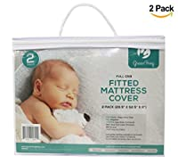 """Baby Mattress Protector 2 - Pack Ultra Soft Quilted Crib Sheets Premium Hypoallergenic, Mattress Pad Topper for Boys and Girls Cribs Mattress Cover Size: 28.5"""" x 52.5"""" x 9"""" [並行輸入品]"""