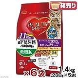箱売り ビューティープロ キャット 猫下部尿路の健康維持 低脂肪 11歳以上 1.4kg(280g×5袋)お買い得6袋 超高齢猫用