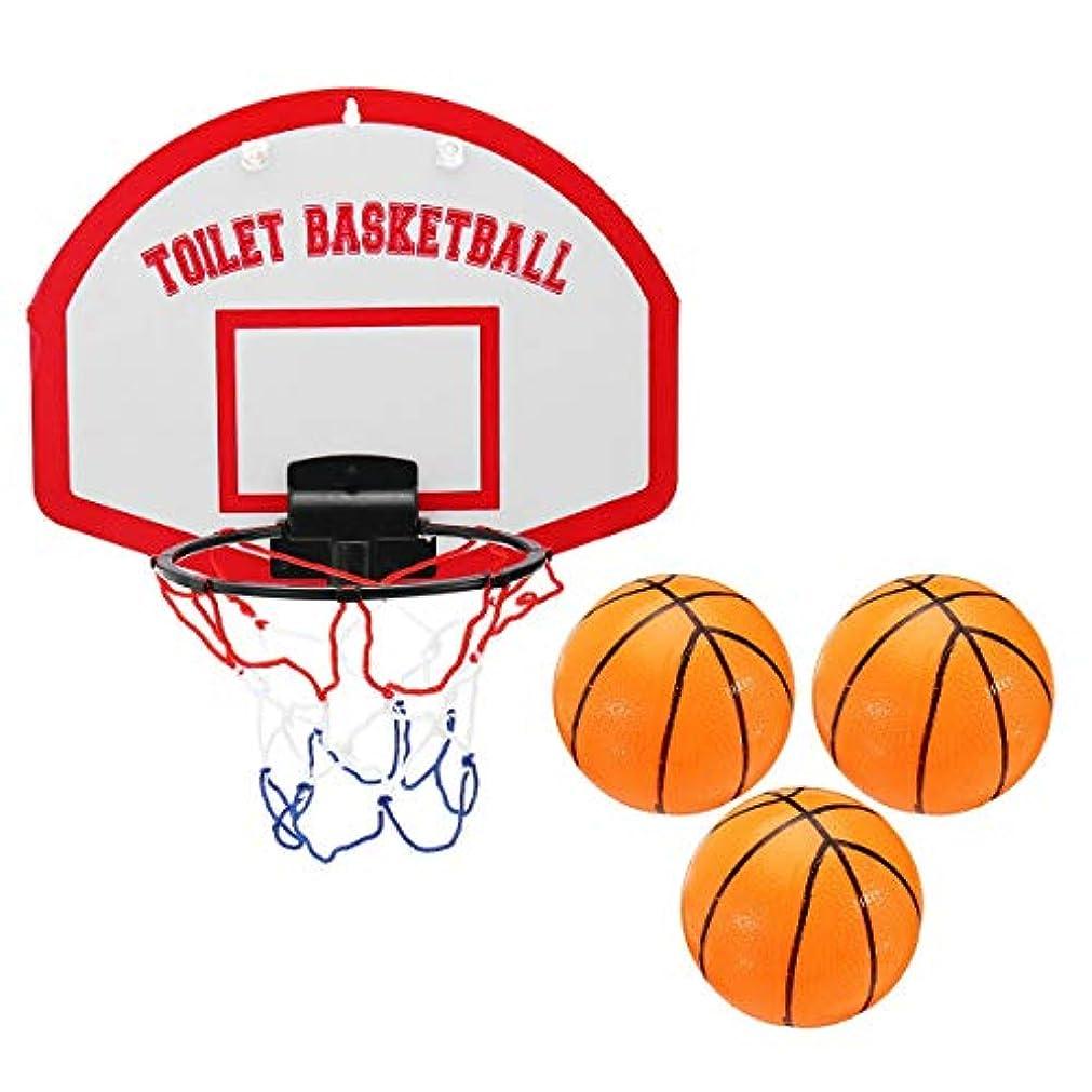 アーチ十分ですスロープバスケットボールゴール ミニバスケットボール設定された室内フープボードネットリングハンギングバスケット風呂シャワーおもちゃ風呂のおもちゃの楽しみバスケットボール ポータブル バスケットボールフープ (色 : Red, Size : One size)