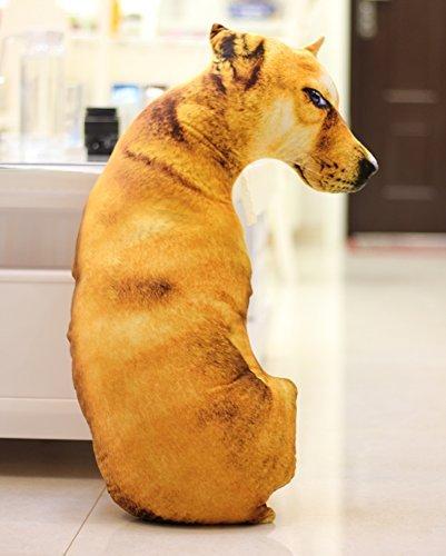 リアル犬抱き枕 3Dプリント ンコぬいぐるみ オフィス用 景品 いたずら いぬクッション (45cm, 3#)
