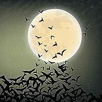 GladsBuy Bats and Moon 10' x 10'コンピュータ印刷写真バックドロップ背景ハロウィンテーマlmg-455