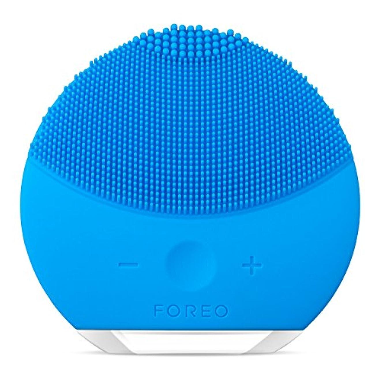 鏡プランター徐々にFOREO LUNA mini 2 アクアマリン 電動洗顔ブラシ シリコーン製 音波振動