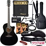 S.Yairi ヤイリ アコースティックギター エレアコ YE-5M/BK ハードケース付属 サクラ楽器オリジナル 初心者入門セット