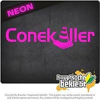 コニキラー Conekiller 12cm x 10cm 15色 - ネオン+クロム! ステッカービニールオートバイ